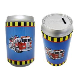 48 Units of Saving Bank Tin Fire Truck - Coin Holders & Banks