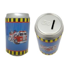 72 Units of Saving Bank Tin Fire Truck - Coin Holders & Banks