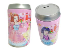 "96 Units of Saving Bank Tin 3asst Princessonly 3.75diax7.75""h< Br/ - Coin Holders & Banks"