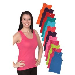 36 Units of Women's Rib Tank Top Assorted Color - Womens Camisoles & Tank Tops