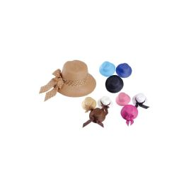 48 Units of Dotted Hanging Bow Sun Hat - Sun Hats