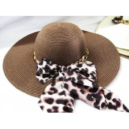 36 Units of Ladies Summer Animal Print Hat  Assorted Colors - Sun Hats