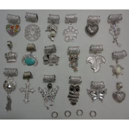 24 Units of Scarf Charm: Assortment - Necklace