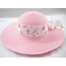 36 Units of Ladies Summer Hat Pink Color Only - Sun Hats