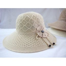 36 Units of Ladies Woven Summer Hat For Gardening - Sun Hats