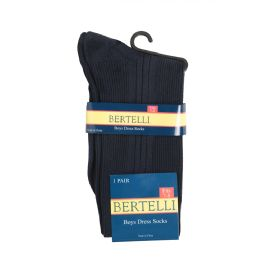 144 Units of Bertelli Dress Socks - Boys Crew Sock