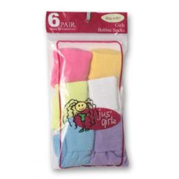 36 Units of Kid's Socks Assorted Sizes Of 0-12 - Girls Crew Socks