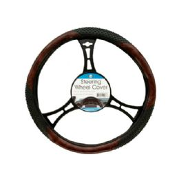 18 Units of Textured TwO-Tone Steering Wheel Cover - Auto Steering Wheel Covers