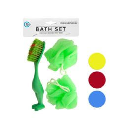 72 Units of Bath Sponges & Foot Brush Set - Bath And Body