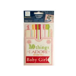 144 Units of 10 Things I Adore About My Baby Girl Journaling Pocket - Scrapbook Supplies