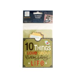 144 Units of 10 Things I Love About Everyday Life Journaling Pocket - Scrapbook Supplies