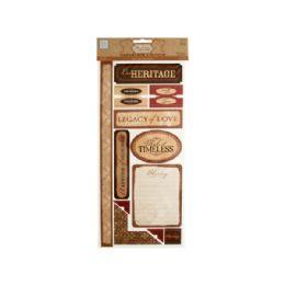 144 Units of Heritage Self-Adhesive Cardstock Die-Cuts - Scrapbook Supplies