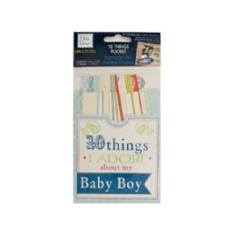 144 Units of 10 Things I Adore About My Baby Boy Journaling Pocket - Scrapbook Supplies