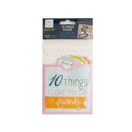 144 Units of 10 Things Friends Journaling Pocket - Scrapbook Supplies