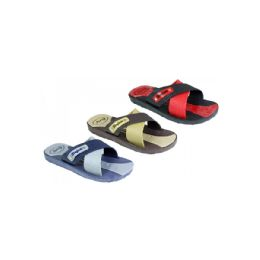 60 Units of Mens Shower/Beach Sandal Assorted Colors - Men's Flip Flops and Sandals