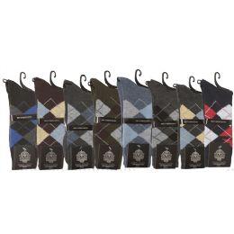 108 Units of Men's Multi Pack Dress Socks - Mens Dress Sock