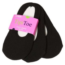 120 Units of Tipi Toe Girls Foot Liners - Girls Ankle Sock