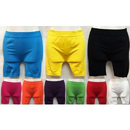 36 Units of Short Safty Pants in Assorted Colors - Womens Active Wear