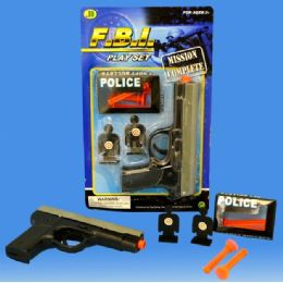 144 Units of Colt 0.45 Shooting Game Set In Blister - Toy Weapons