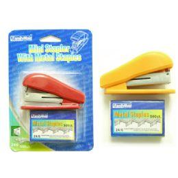 144 Units of Stapler+staples(500) - Staples and Staplers