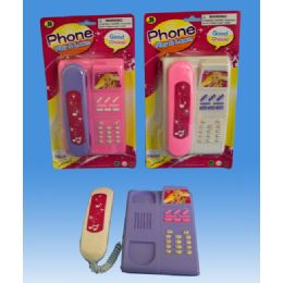 72 Units of Phone Set In Blister Card - Light Up Toys