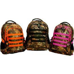 """12 Units of Hunting BackpacK-Orange Trim - Backpacks 18"""" or Larger"""