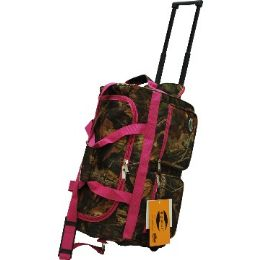 """12 Units of """"E-Z Roll"""" 22"""" Hunting Rolling Duffel W/Pink Trim - Travel & Luggage Items"""