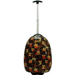 5 Units of Kids' Hardshell Luggage- Black OWL - Travel & Luggage Items