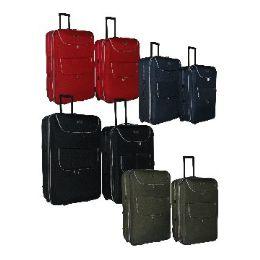 "4 Units of ""E-Z Roll"" 2pc set luggage-Black - Travel & Luggage Items"