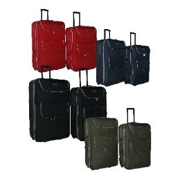 """4 Units of """"E-Z Roll"""" 2pc set luggage-Red - Travel & Luggage Items"""