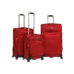 """2 Units of """"E-Z Roll"""" 3pc double spinner wheels luggage-Red - Travel & Luggage Items"""