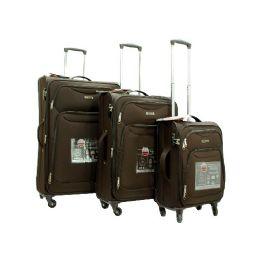 "2 Units of ""E-Z Roll"" 3pc Exp. Super Light Spinner W/TSA Lock-brown - Travel & Luggage Items"