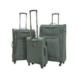 "2 Units of ""E-Z Roll"" 3pc Exp. Super Light Spinner W/TSA Lock-Grey - Travel & Luggage Items"