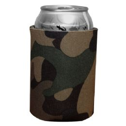 144 Units of Insulated Can or Beverage Holder Retro Camo - Cooler & Lunch Bags