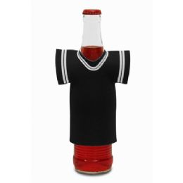 "72 Units of Jersey Foam Bottle Holder 4""x 5"" Black - Cooler & Lunch Bags"