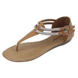 18 Units of Ladies Fashion Sandal Camel