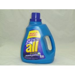 4 Units of All 2x Liq Detergent - Sec Garden 100oz - Cleaning Products