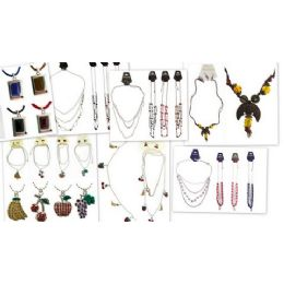 180 Units of Lot Of Fashion Necklace And Earring Sets Only Good Sellers - Necklace Sets