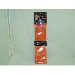 144 Units of 10 Sheet Orange Tissue Paper - Gift Wrap