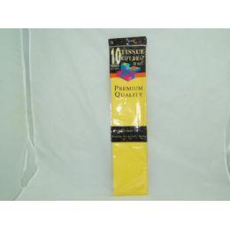 144 Units of 10 Sheet YellowTissue Paper - Gift Wrap