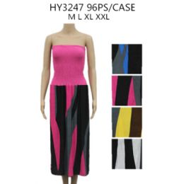 48 Units of Woman's Two Tone Summer Dress - Womens Sundresses & Fashion