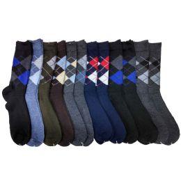 120 Units of Mens Argyle Dress Socks - Mens Dress Sock