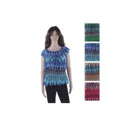 36 Units of Woman Fashion Ruffle Top Assorted Colors - Womens Fashion Tops