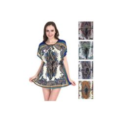 36 Units of Woman's Printed Fashion Summer Top Asst Colors - Womens Fashion Tops