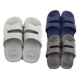 24 Units of Men's Shower Slipper Assorted Colors - Men's Slippers