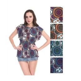 72 Units of Womens Spring Fashion Top Assorted Colors - Womens Fashion Tops