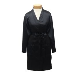 10 Units of Womens Satin Kimono Robe - Black - Womens Intimates