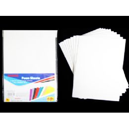 96 Units of Foam Sheets 10pc Eva White Clr 11.8*7.9 - Foam & Felt