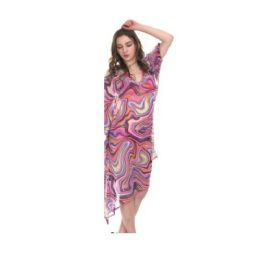 24 Units of Womens Spring Printed Fashion Top Assorted Colors - Womens Swimwear