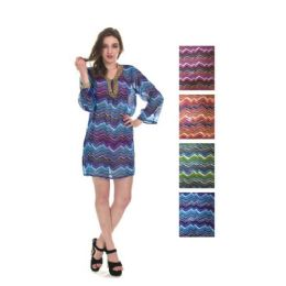 24 Units of Womens Chiffon Coverup - Women's Cover Ups